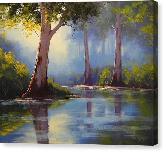 Australian Canvas Print - River Gum Trees by Graham Gercken