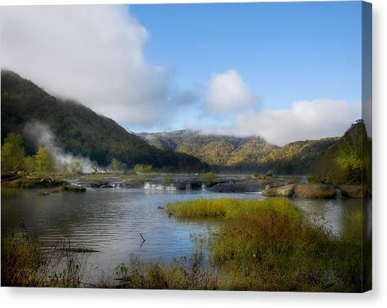 River In The Mountains Canvas Print by John Mueller