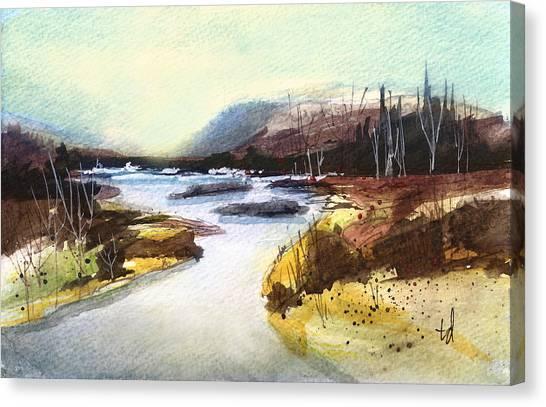 River Landscape 1 Canvas Print