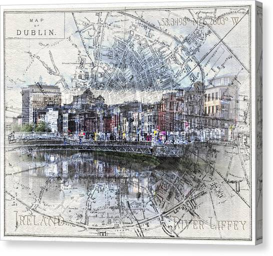 River Liffey Dublin Canvas Print