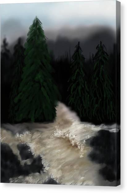 River North Carolina  Canvas Print