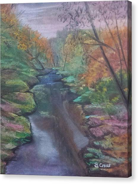 River In The Fall Canvas Print