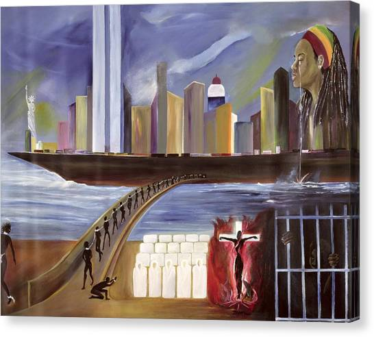 Racism Canvas Print - River Of Babylon  by Ikahl Beckford