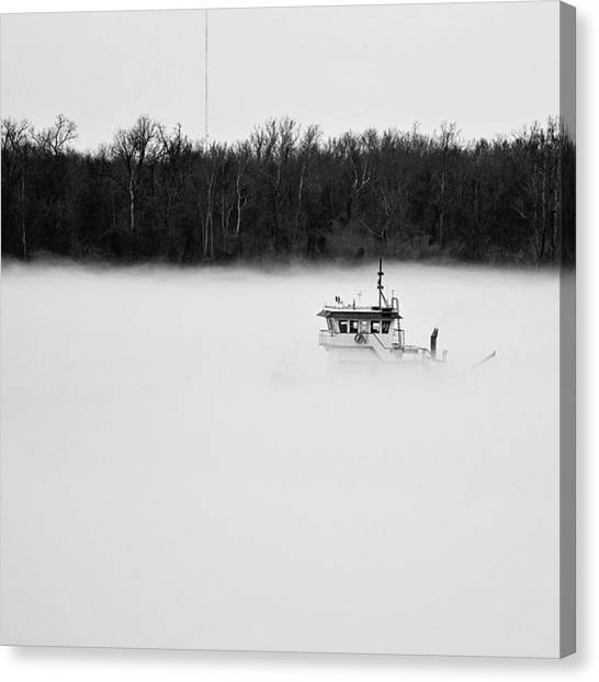 Mississippi Canvas Print - River Of Fog #mississippi #batonrouge by Scott Pellegrin