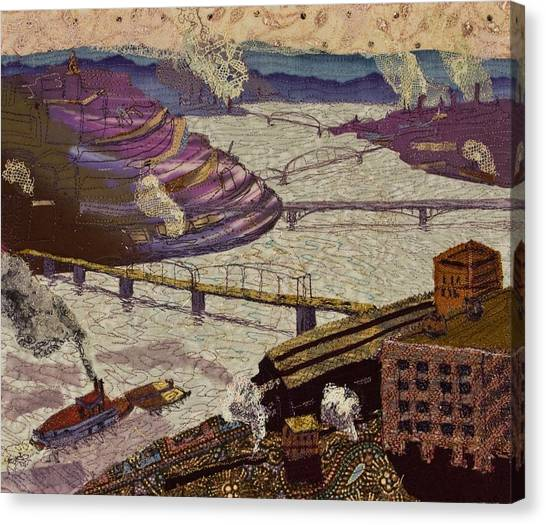 River Of Industry Canvas Print