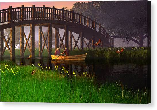 River Of Poems Canvas Print