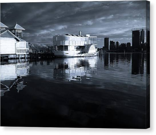 Perth australia canvas print river of reflections by heather thorning