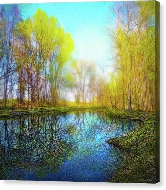 River Peace Flow Canvas Print