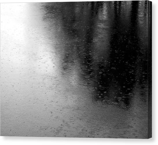 River Rain  Naperville Illinois Canvas Print