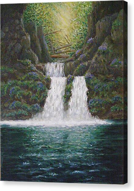 River Reverie Canvas Print by Deborah Dallinga