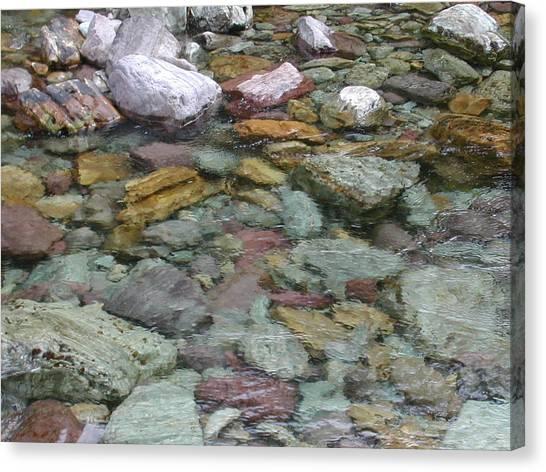 River Rocks Canvas Print by Lisa Patti Konkol