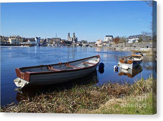 River Shannon At Athlone Canvas Print