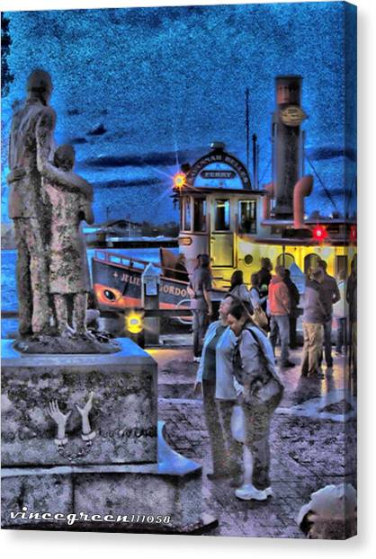 River Street Blues Canvas Print
