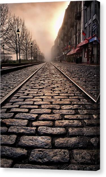 River Street Railway Canvas Print