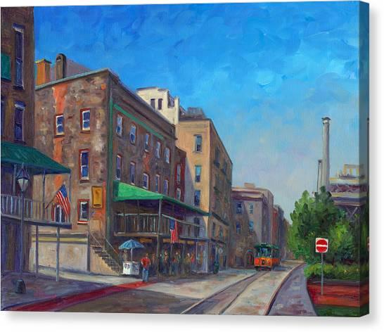 River Street Savannah Canvas Print by Jeff Pittman