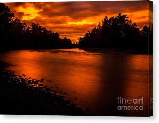 River Sunset 2 Canvas Print