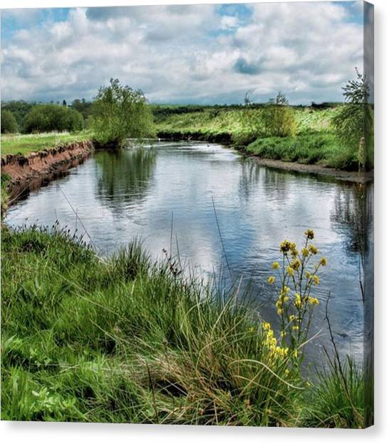 Trip Canvas Print - River Tame, Rspb Middleton, North by John Edwards