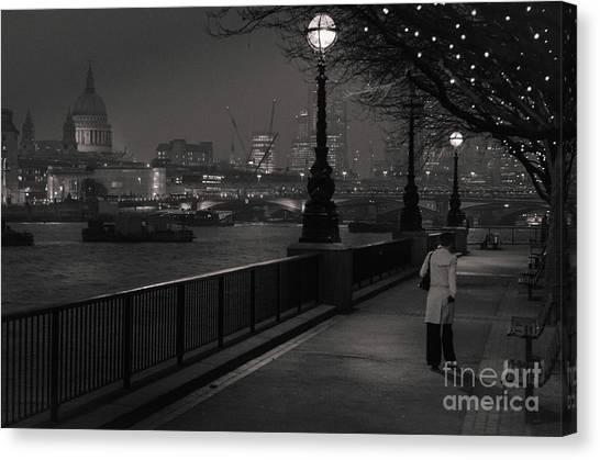 River Thames Embankment, London Canvas Print