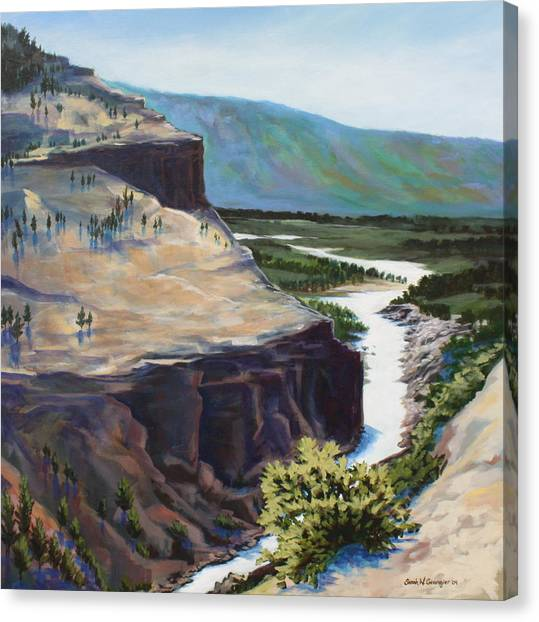 River Through The Canyon Canvas Print