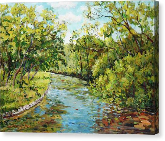 River Through The Forest Canvas Print
