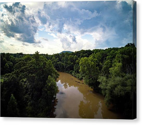 River View From Above Canvas Print