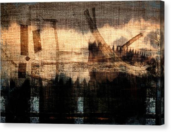 Walk Canvas Print - River Walk Shadows by Carol Leigh