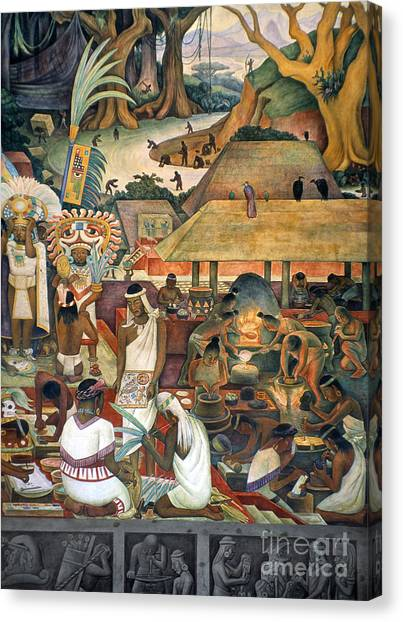 Aod Canvas Print - Rivera: Pre-columbian Life by Granger