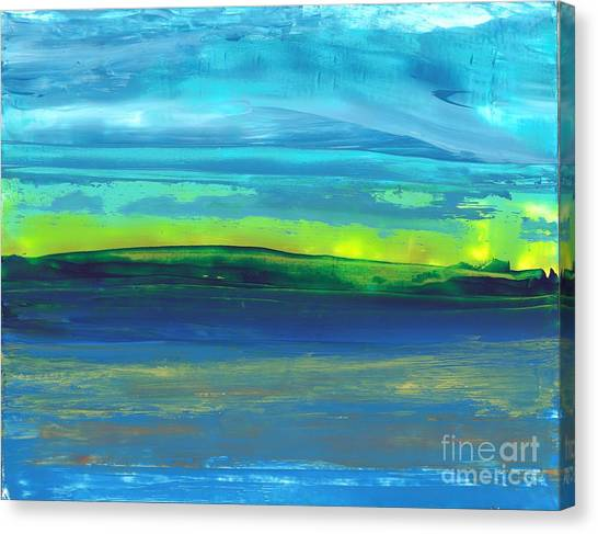 Riverbank Green Canvas Print