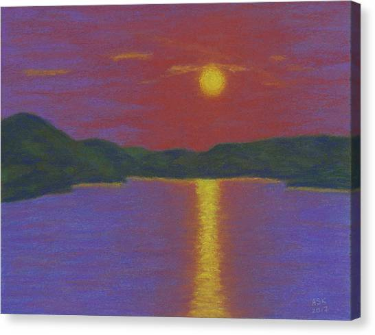 Riverboat Sunset Canvas Print