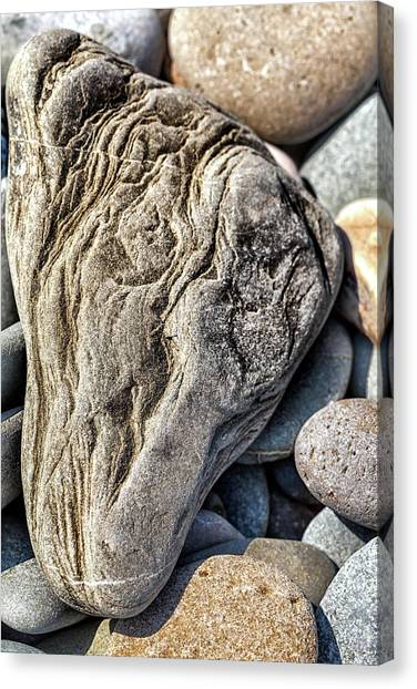 Rivered Stone Canvas Print