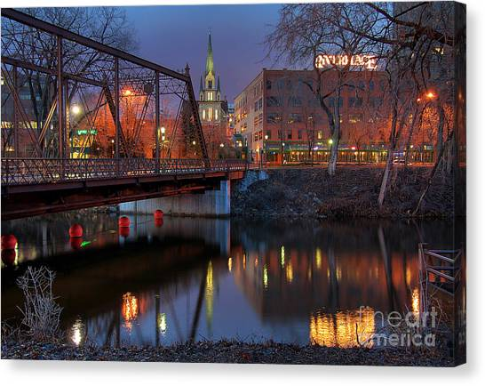 Riverplace Minneapolis Little Europe Canvas Print