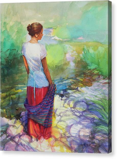 Fabric Canvas Print - Riverside Muse by Steve Henderson
