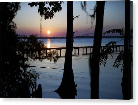 Riverside Sunset Canvas Print