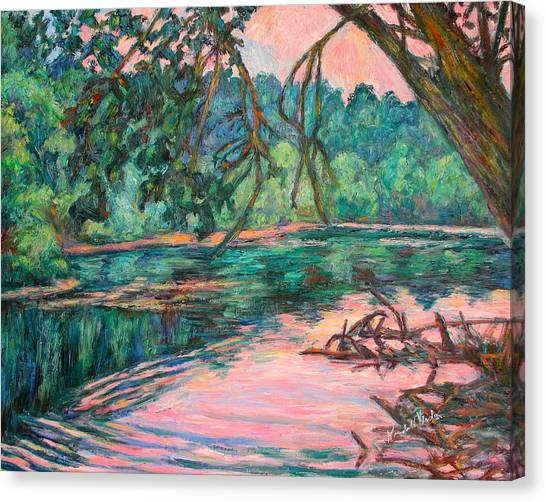 Riverview At Dusk Canvas Print