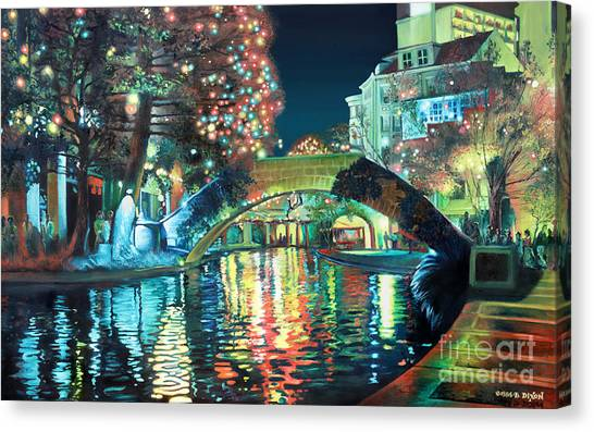 Rio Canvas Print - Riverwalk by Baron Dixon