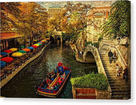 Rivers Canvas Print - Riverwalk by Iris Greenwell