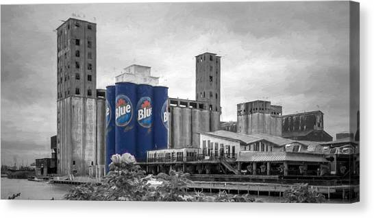 Riverworks Blue Canvas Print