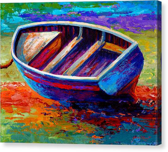 Wooden Canvas Print - Riviera Boat IIi by Marion Rose
