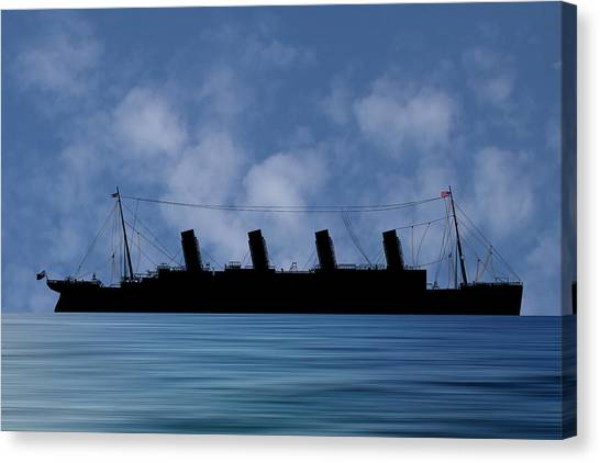 Cruise Ships Canvas Print - Rms Titantic V1 by Smart Aviation