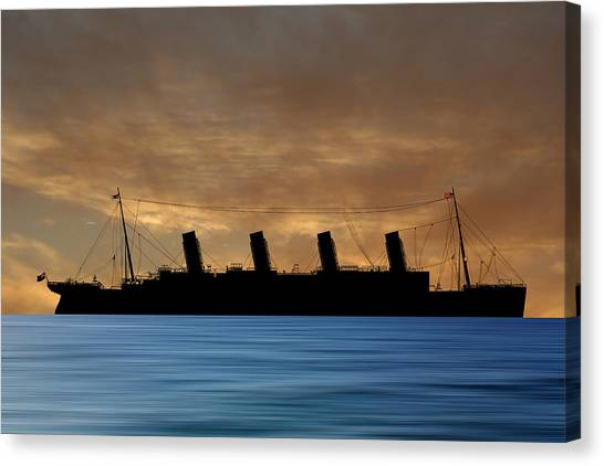 Cruise Ships Canvas Print - Rms Titantic V2 by Smart Aviation