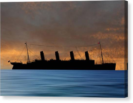 Cruise Ships Canvas Print - Rms Titantic V3 by Smart Aviation