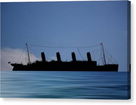 Cruise Ships Canvas Print - Rms Titantic V4 by Smart Aviation