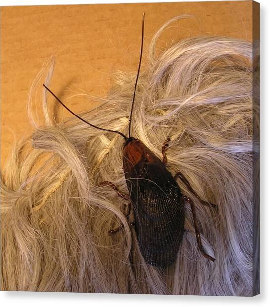 Roach Hair Clip Canvas Print