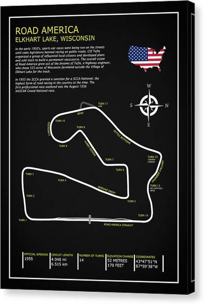 Formula 1 Canvas Print - Road America Circuit by Mark Rogan