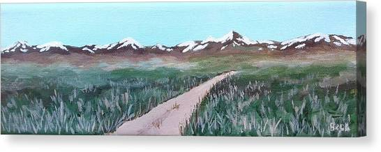 Wii Canvas Print - Road From Manzanar by Katherine Young-Beck