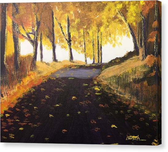 Road In Autumn Canvas Print