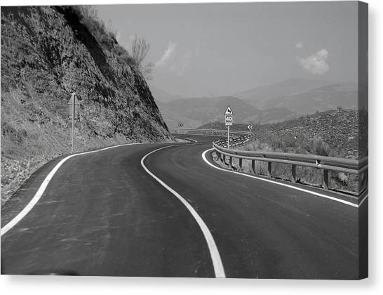 Road Out Canvas Print by Jez C Self