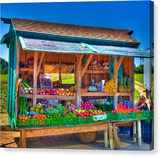 Road Side Fruit Stand Canvas Print