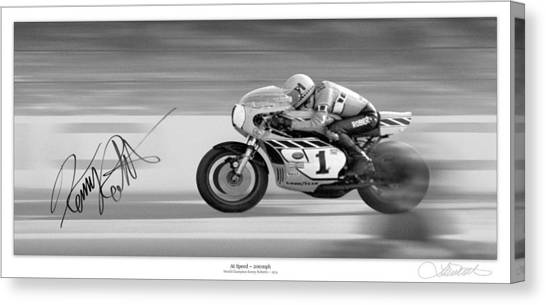 Yamaha Canvas Print - Road  Speed by Lar Matre