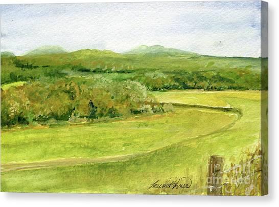 Road Through Vermont Field Canvas Print
